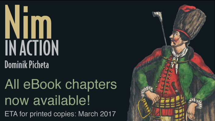 A printed copy of Nim in Action should be available in March 2017!